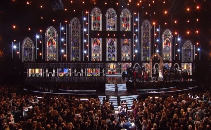 Stained Glass Macklemore Ryan Lewis Madonna at Grammys 2014